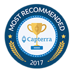 most recommended award by capterra 2017 HandiFox