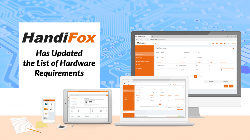 HandiFox Has Updated the List of Hardware Requirements